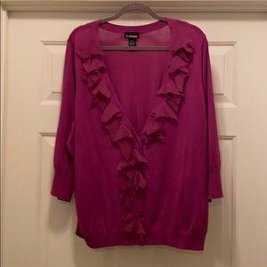 Lane Bryant embellished V-neck cardigan, Sz 22/24